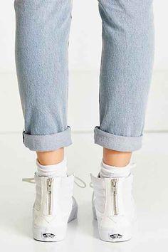 Vans Sk8-Hi Perforated Leather Zip Sneaker - Urban Outfitters