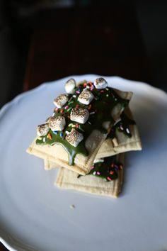 Matcha & White Chocolate S'mores Pop Tarts — Probably Baking