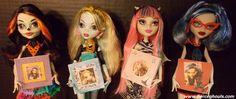 How to make Monster High Doll Scrapbooks - Includes free printable scrapbooks