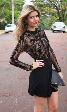 Inspiration Look - LoLoBu -- beautiful dress! Fashion Beauty, Girl Fashion, Fashion Outfits, Womens Fashion, Pretty Outfits, Cool Outfits, Lace Top Dress, Ideias Fashion, Fasion