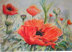 POPPIES MY original painting prints available from easyart.com