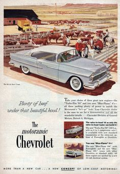 1955 Chevy, 1955 Chevrolet, Chevrolet Trucks, Chevy Vehicles, Car Illustration, Illustrations, Car Posters, Car Advertising, New Engine