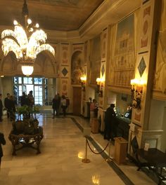 The reception area of the Westin Palace Madrid Reception Areas, Pilgrim, Palace, Madrid, Portugal, Spain, Tours, History, Country