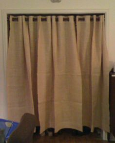 sewing on the edge: Pictures of the burlap curtains