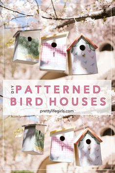 These DIY Patterned Bird Houses our made with Mod Podge Outdoor, making them perfect for giving your neighborhood birds a pretty home all spring long! Diy Projects For Kids, Crafts For Kids To Make, Mod Podge Crafts, Spring Activities, Kid Activities, Paper Crafts, Diy Crafts, Craft Party, Paper Decorations