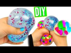 DIY Mini Stress Balls! Orbeez & Mesh Slime Stress Ball Miniatures! - YouTube
