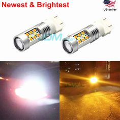 JDM ASTAR 1200LM 3157 PX SMD White Yellow Switchback Dual Color Signal LED Bulbs #JDMASTAR