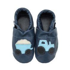 pantau.eu Kinder Lederpuschen Lauflernschuhe Krabbelschuhe Babyschuhe Traktor mit Anhänger - http://on-line-kaufen.de/pantau-eu/pantau-eu-kinder-lederpuschen-lauflernschuhe-2