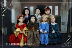 A Girl for All Time dolls. #agirlforalltime #swishandswirl