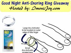 04/24 Good Night Anti- Snore Ring Giveaway http://www.heartofaphilanthropist.com/1/post/2014/04/good-night-anti-snoring-ring-giveaway.html