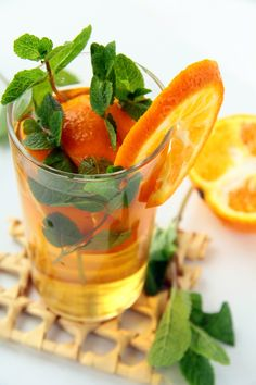 MINT AND ORANGE HOT TODDY