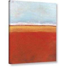 ArtWall Jan Weiss Big Sky Country IV Gallery-wrapped Canvas, Size: 18 x 24, Blue