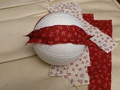 Bolas de navidad con telas