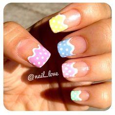 really cute easter nails Nail Tip Designs, Holiday Nail Designs, Fingernail Designs, Nail Designs Spring, Cute Spring Nails, Spring Nail Art, Cute Nails, Pretty Nails, Hoilday Nails