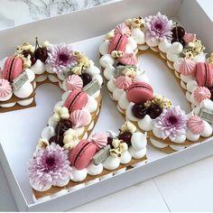 Birthday Cake 30, Number Birthday Cakes, 21st Birthday Decorations, Beautiful Birthday Cakes, Birthday Cakes For Women, Number Cakes, Beautiful Cakes, 25th Birthday Ideas For Her, Happy Birthday