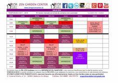 Nuevos horarios 2017-18 sala Zen.