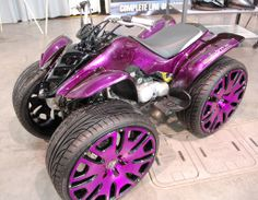 #Purple #Atv - www.ATVUpgrade.com - Who says girls cant get in on the action? Tougher than you and prettier while they do it! ATV UPGRADE