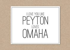 Peyton Manning - Valentine's Day Card