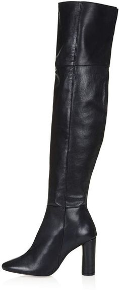 Topshop COLLIDE Leather Over Knee Boots on shopstyle.co.uk not quite russell and bromley but ok ??