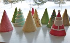 Kid's Craft: Paper Cone Holiday Trees WATER COOLER CONES!