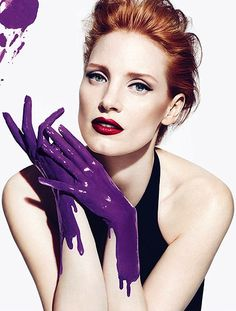 Jessica Chastain for YSL Manifesto