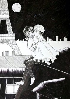 Rooftop kisses by chiemipi