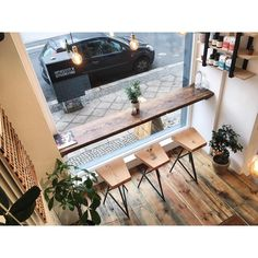 We have worked hard to design a comfortable and inviting space for you, and we are happy with how it turned out! Small Restaurant Design, Decoration Restaurant, Deco Restaurant, Small Coffee Shop, Coffee Shop Bar, Coffee Shop Design, Restaurant Interior Design, Shop Interior Design, Café Design