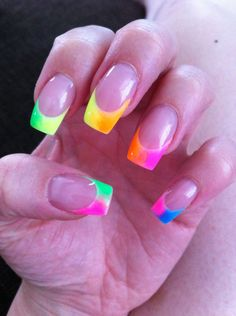 Neon nails, great for summer