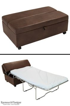 Make any room in your home multifunctional with the Dimora sleeper ottoman. You can use it every day as a convenient table or extra seating, then open it to extend the mattress inside when hosting an overnight guest.