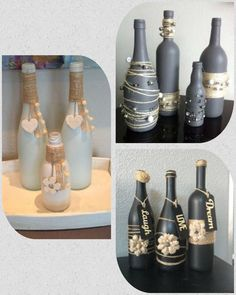 Ideas Para Decorar Con Botellas Manualidades Wrapped Wine