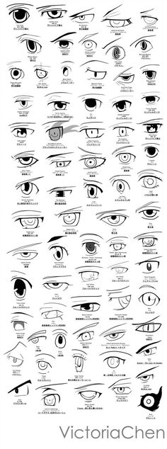 Anime Eye Sketch/Poster Project by VictoriaChen on DeviantArt