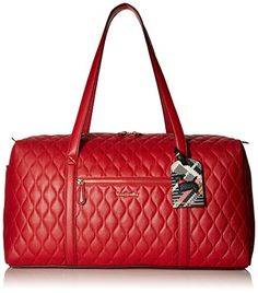 Vera Bradley Womens Quilted Large Duffel Tango Red ** Read more reviews of the product by visiting the link on the image. Note:It is Affiliate Link to Amazon.