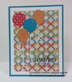 Double C Creations: Taylored Expressions Up, Up & Away, Taylored Expressions In & Out Birthday, Kaisercraft Hello Sunshine