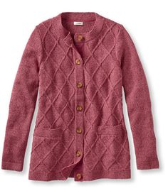 <p>Distinctively detailed with beautiful twists of color and a lattice-stitch cable pattern. Knit from midweight 100% cotton yarns– expertly spun then combed and twisted for exceptional softness. Seed-stitch trimmed edges. Front pockets. Imported. Machine wash, dry flat or dry clean.</p> <p><b>Slightly Fitted</b>Our most popular fit softly shapes the body; falls at low hip</p>