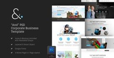 And Corporate PSD by GraphicArtist And Clean Corporate PSD TemplateAnd is a clean, multipurpose corporate PSD template. Please see the screenshots to view all pages