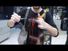 medium length layer haircut - YouTube