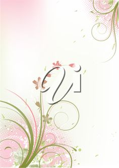 iCLIPART - Vector illustration of Grunge Floral Background
