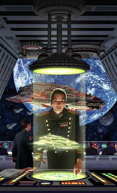 "spaceshipsgalore: ""David Burroughs Mattingly (b.1956) — 'Honor Among Enemies' by David Weber, 1997 (729×1200) #spaceship – https://www.pinterest.com/pin/474355773241862906/ """