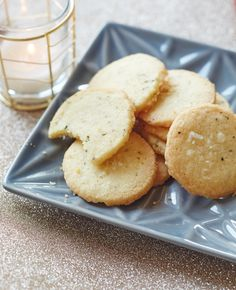 Recipe: Rosemary Shortbread Cookies — The Freezer Cookie Plate