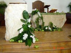 green apples in church