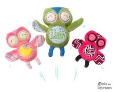 want Embroidery Machine Owl Pattern - Dolls And Daydreams