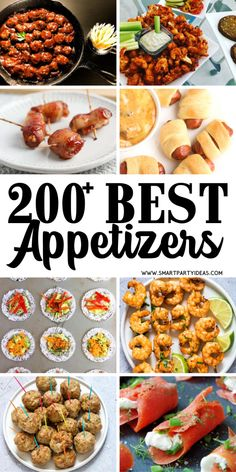 Best Small Bite Party Appetizers Perfect For Any Event - Smart Party Ideas Host an epic party with one or many of these delicious small bite party appetizers. With over 200 delicious appetizers it'll be hard to pick just one. Finger Food Appetizers, Yummy Appetizers, Appetizers For Party, Appetizer Recipes, Finger Foods For Parties, Heavy Appetizers, Tapas Party, Appetizer Ideas, Dinner Recipes