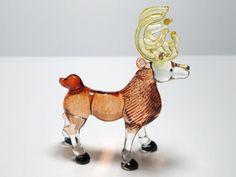 Craft Collectible MINIATURE HAND BLOWN GLASS Deer FIGURINE Animals