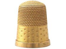 Antique Circa 1890 15k Yellow Gold Thimble