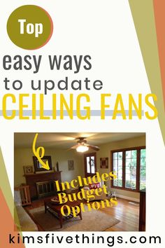Covers for Ceiling Fan Blades - Easy way to update an old shabby ceiling fan.