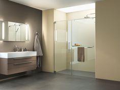 PALME® Dusche für das Bad. Bathroom Lighting, Mirror, Furniture, Home Decor, Showers, Bath Room, Bathing, Bathroom Light Fittings, Homemade Home Decor