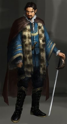 Baron Richard Neville.  Human Nobleman (Knight).  Lawful Neutral.  Called the Kingmaker.  Believed to be the political mind behind the Cour de Leon faction.  Had a falling out with Edward IV and betrayed the Cour de Leons, joined the de Lacys during the Alegraen Divided Monarchy.