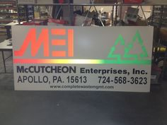 MEI reflective, aluminum signage by Mr. Sign 412-264-4555