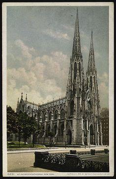 Detroit Publishing Company (American). St. Patrick's Cathedral, New York, 1902–1903. The Metropolitan Museum of Art, New York. Burdick 416, p.25v(5)) #newyork #nyc
