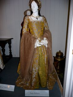 Anne Boleyn from a display at Sudeley Castle.